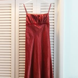 Long Copper Gown David's Bridal